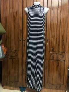 Zalora high neck slit dress