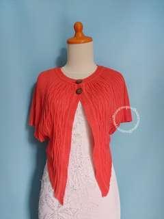 Orange Knit Bolero