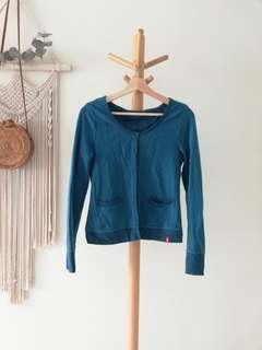 EDC Turquoise Blue Cardigan / Button-up Top
