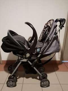 Combi Stroller set with Rear Facing infant seat #XMAS25