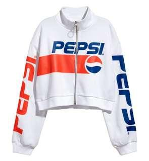 🌻FREE NM🌻 Brand New H&M Cropped Pepsi Jacket