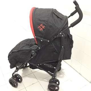 只用一次 95%new 單手收車 嬰兒車 stroller
