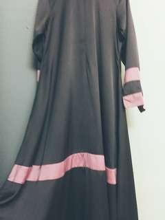 Princess cut dress (silver with pink stripes)