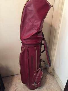 Golf Bag bridgestone red free extra clubs!
