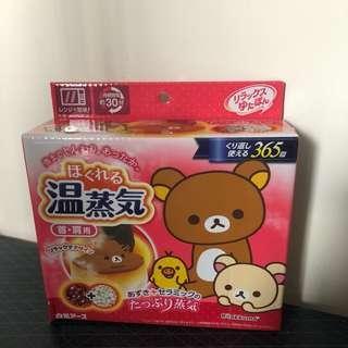 購於日本 白元 Rilakkuma 懶懶熊 鬆弛熊 蒸氣溫熱肩頸 蒸氣肩頸