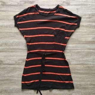 Brown stripes knit