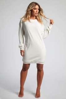 Jolean White Knit Sweater Dress BNWT