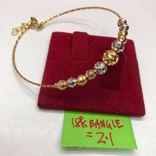 18K SAUDI GOLD BANGLE 🔴(sold per gram)🔴