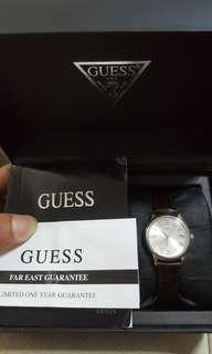 New Guess Leather Dress Watch