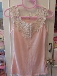 💯🆕️粉紅色Lace Top~包郵