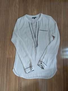 Warehouse sheer white shirt