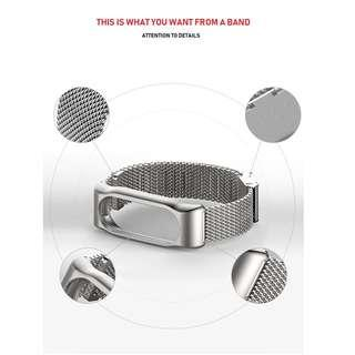 🚚 Stainless Steel Mesh Band for Miband3