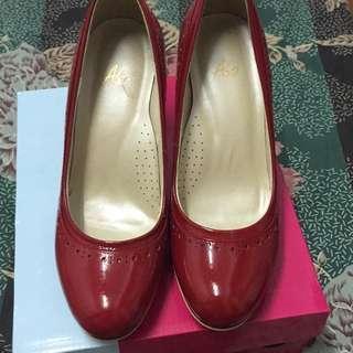 🚚 紅色高跟鞋僅試穿