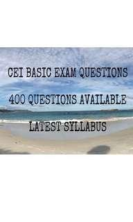 CEI BASIC MOCK EXAM PAPERS