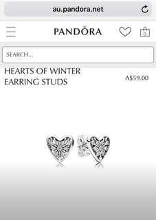 Hearts of Winter Earring Studs