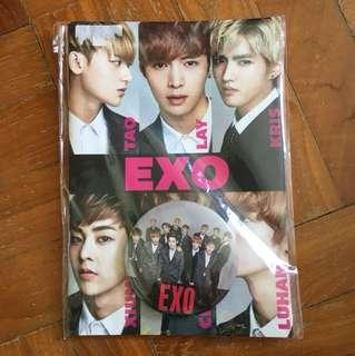 EXO notebook and badge