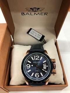 🚚 原廠正品 BALMER 7956 深藍皮錶