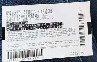 Universal studio Singapore ticket
