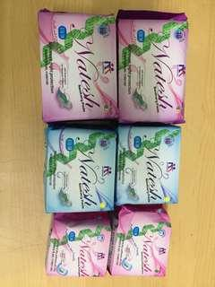 Pembalut bebas dioksin 1 set isi night,day n pantyliner