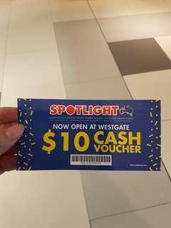 $10 spotlight voucher