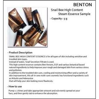 Benton snail bee high Content Essence (sample)