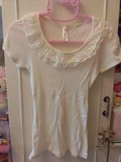 💯🆕️Korea米白色lace領top~包郵
