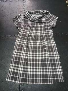 Checkered Mini Dress or Long Blouse