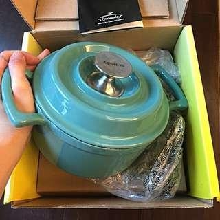 🆕新-瑞士ARMADA Alice鑄鐵鍋18cm Tiffany藍