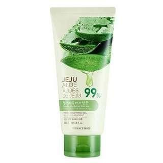 The Face Shop aloe vera gel in tube with paper bag