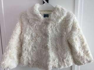 Old Navy Girl's faux fur coat size 2T