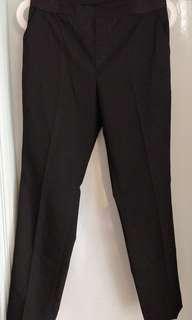 Uniqlo橡筋頭黑色四季西褲