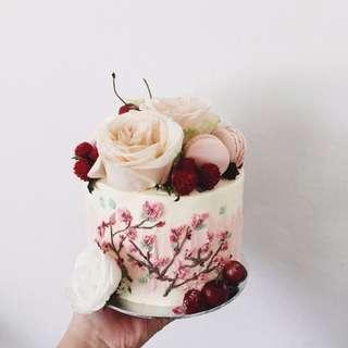 Floral Paint Cakes