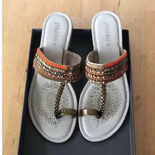 Beaded Colorful Flats/Chappal/ Kolhapuris/ Footwear