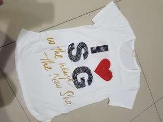 Singapore Tshirt I love SG Kaus Oblong Spore Kaos Oleh-oleh Souvenir