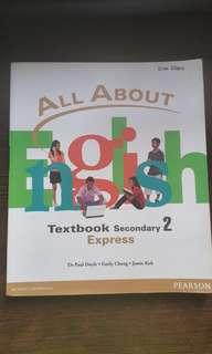 All About English Textbook Sec 2