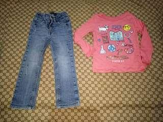 Take Levi's Skinny Pants&Carter's top(Size 3T)