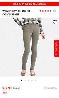 UNIQLO Skinny ezy coloured pants