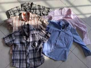 Boys shirt Long and short sleeve