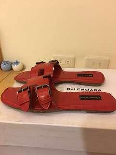 紅色平底鞋