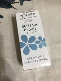 SOFINA 蘇菲娜 芯美顏 美白瀅潤日間防禦乳 SPF50+ PA++++ 清爽型