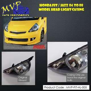 Honda FIT / JAZZ 2004 to 2008 Clear Headlight Casing ( Pre-Order )