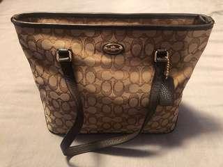 Authentic Coach Monogram Handbag