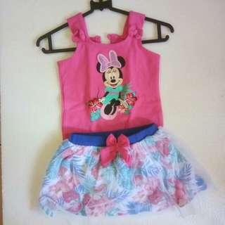 Set jumper dan rok Disney
