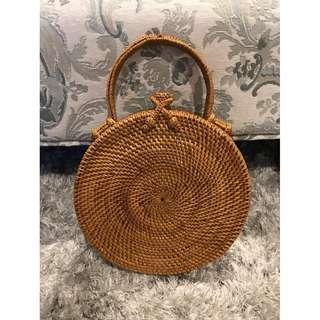 Top Handle Rattan Bag for sale $80 (New)