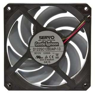 Gentle Typhoon GT 120mm 3-Pin 1150 RPM Fan D1225C12B3AP-13 for PC Desktop Case Rads CPU Cooler Casing Fan