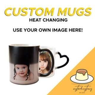 [SALE] Customisable Heat-Sensitive / Colour-Changing Cup / Mug!