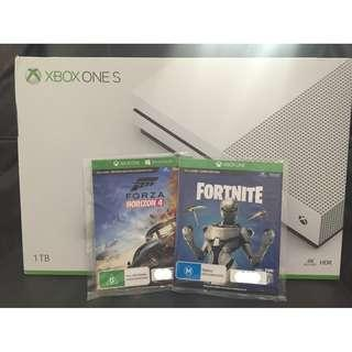 Xbox One S 1TB with 2 Games for sale $350 (New)