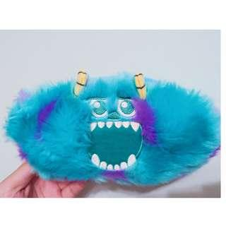 【現貨全新品】迪士尼 怪獸大學 怪獸電力公司 毛怪&史考特 雙面毛絨 收納包/化妝包/手機包