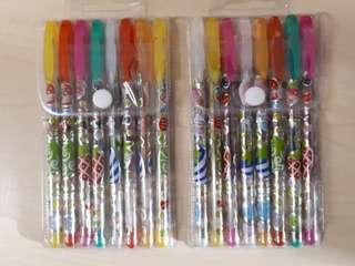 Twin Pack Coloured Glitter Pens