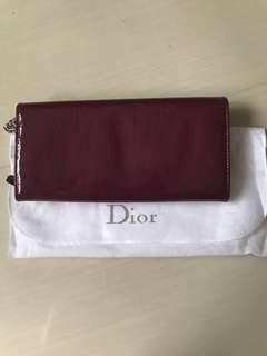 Dior long wallet with chain *AUTHENTIC*